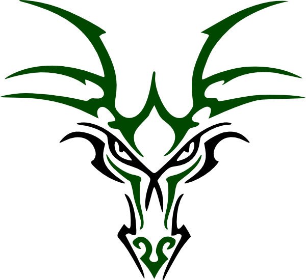 Green Dragon Head Clip Art At Clker Com   Vector Clip Art Online
