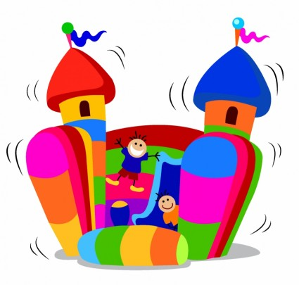 Clip Art Bounce House Clipart carnival bounce house clipart kid home free vector misc jumping castle