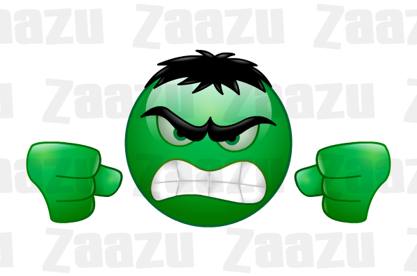 Incredible Hulk Angry Mad Furious Monster Character Upset Green