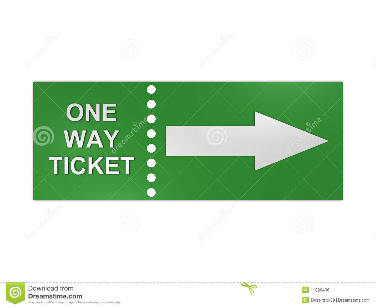 One Way Ticket Royalty Free Stock Image   Image  11826496
