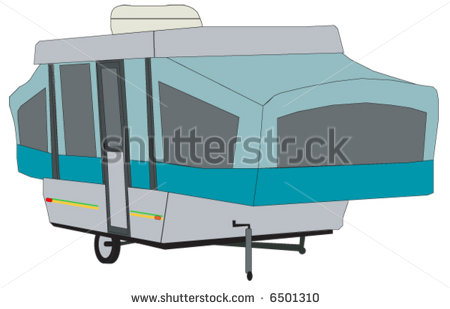 Pop Up Tent Style Camping Trailer Stock Vector 6501310   Shutterstock