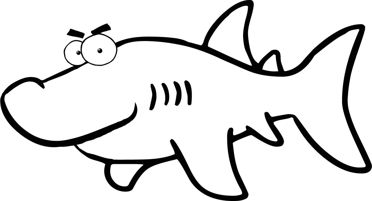 Shark Clipart Black And White   Clipart Panda   Free Clipart Images