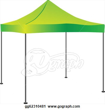 Stock Illustration   Commercial Pop Up Tent  Clipart Gg62310481