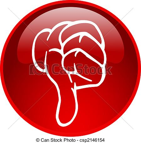 Stock Illustration   Red Thumb Down Button   Stock Illustration