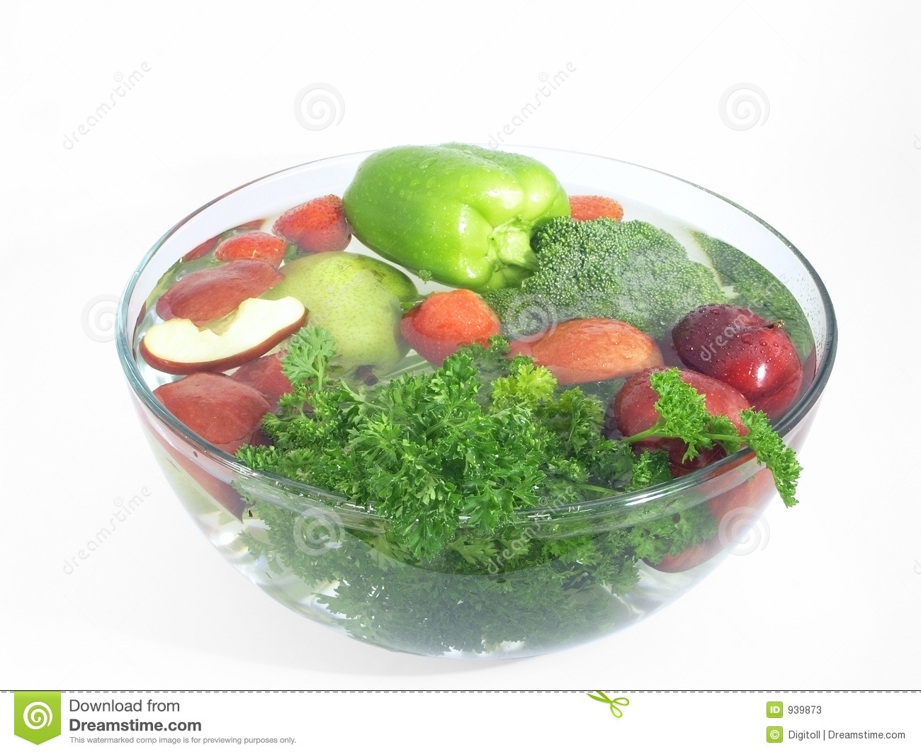 Vegetables And Fruits In Clear Wash Bowlclick The Below Links To View