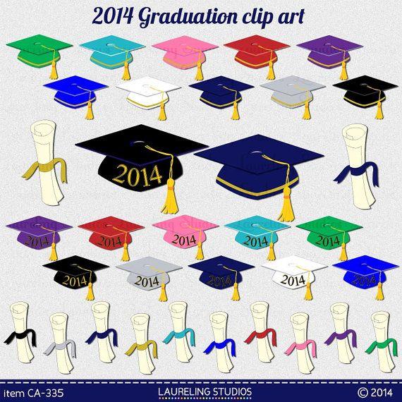2014 Graduation Clip Art