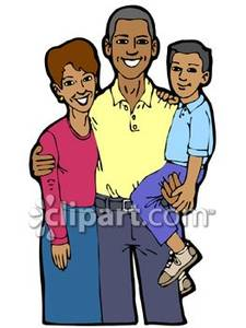 African American Family   Royalty Free Clipart Picture