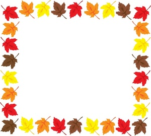 Autumn Leaves Borders Clip Art