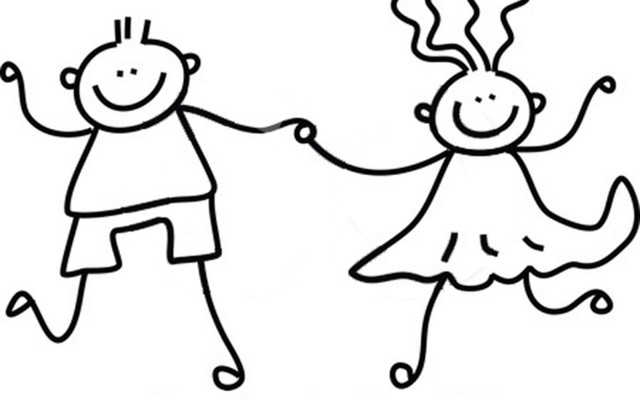 Black And White Kids Holding Hands   Cliparts Co