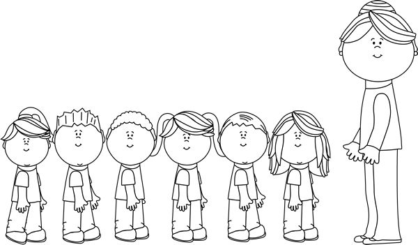 Student Black And White In Line Clipart - Clipart Kid