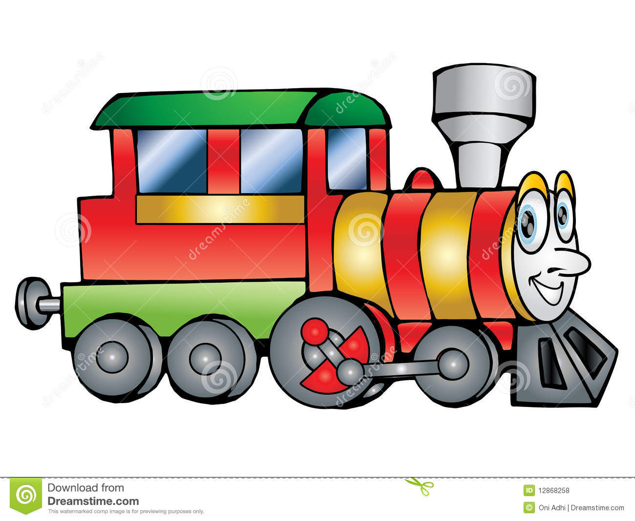Clip Art Of Train Transportation Illustration For Yours Design