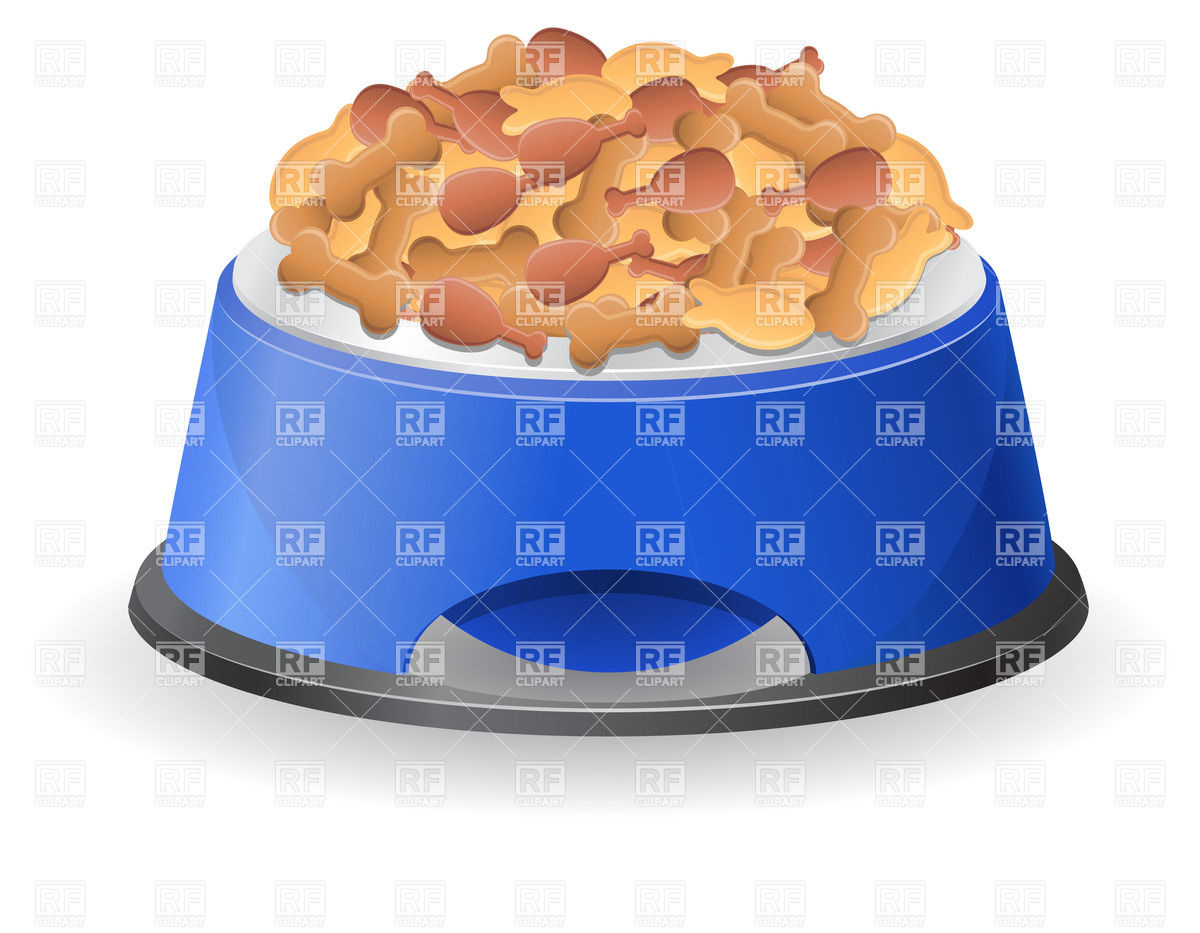 Dog Bowl With Dog Food 20983 Food And Beverages Download Royalty