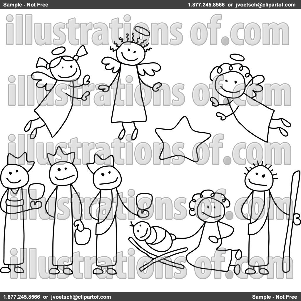 Free Christmas Clip Art Nativity Scene Nativity Clipart By C Charley