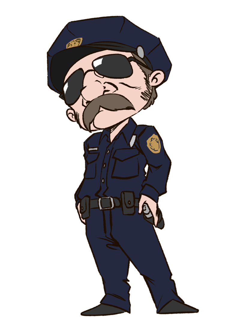 Free Cool Policeman Clip Art