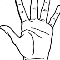 Grabbing Hand Clipart Hand Palm Facing Out Clip Art 18366 Jpg