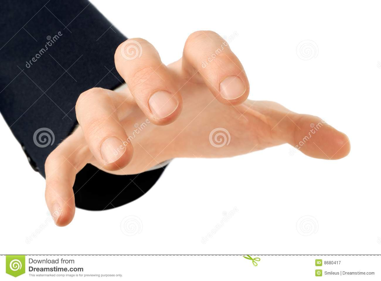 Grabbing Hand Royalty Free Stock Photography   Image  8680417