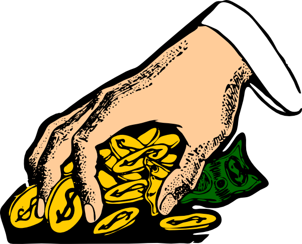Hand Grabbing Gold Coins Clip Art At Clker Com   Vector Clip Art