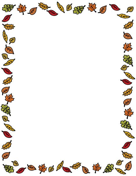 Thanksgiving Borders Clipart - Clipart Suggest