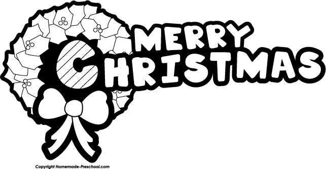 Merry Christmas Clip Art Black And White   Quotes Lol Rofl Com