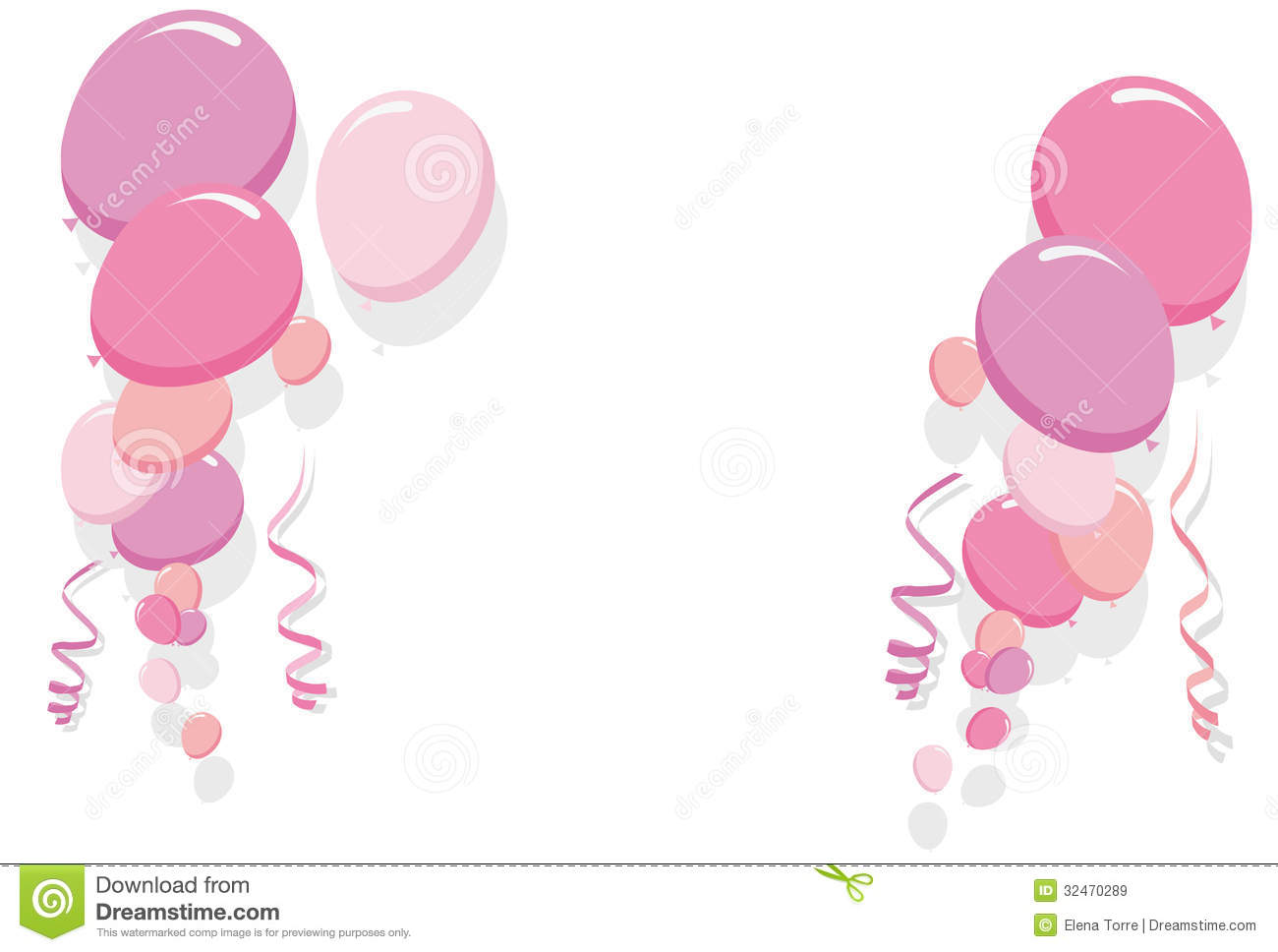 Pink Balloons Border Vector Royalty Free Stock Images   Image
