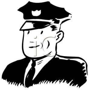 Police Officer In Uniform   Royalty Free Clipart Picture