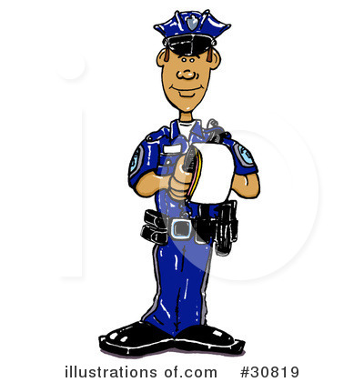 Royalty Free  Rf  Police Clipart Illustration By Spanky Art   Stock