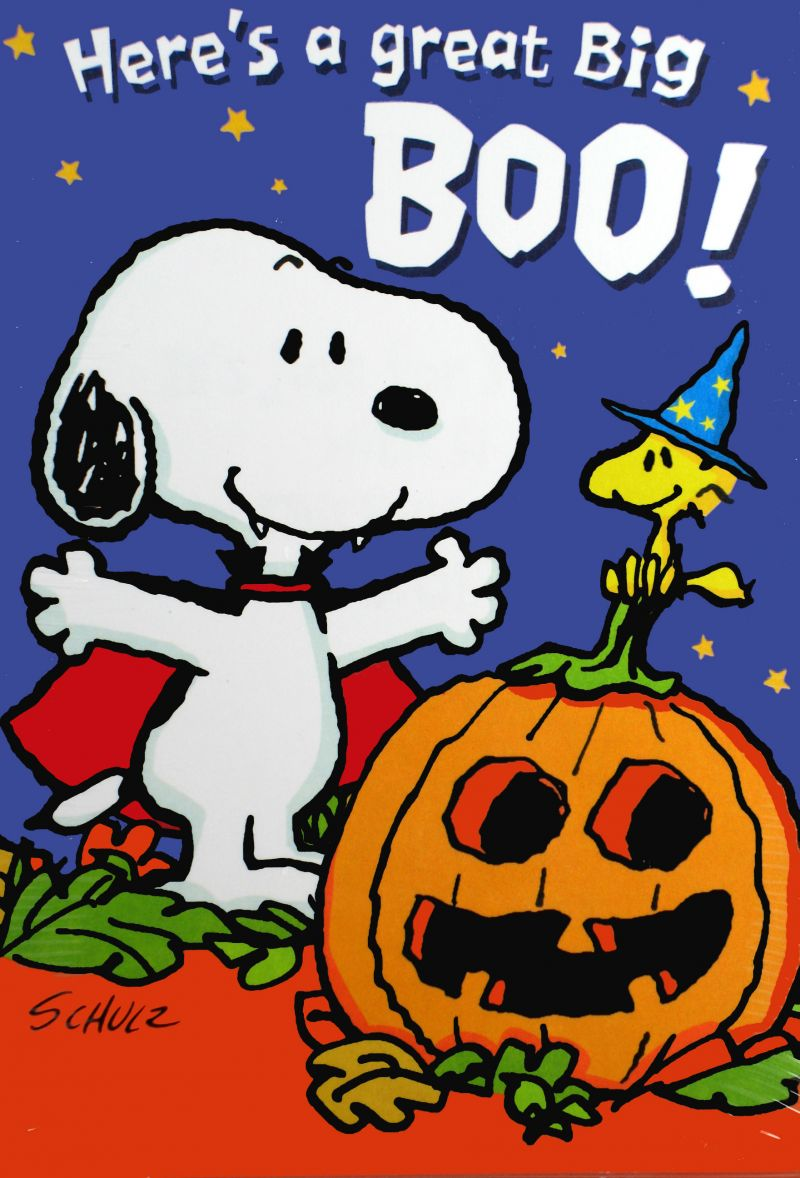 Snoopy Halloween Card Set  Snoopn4pnuts Com