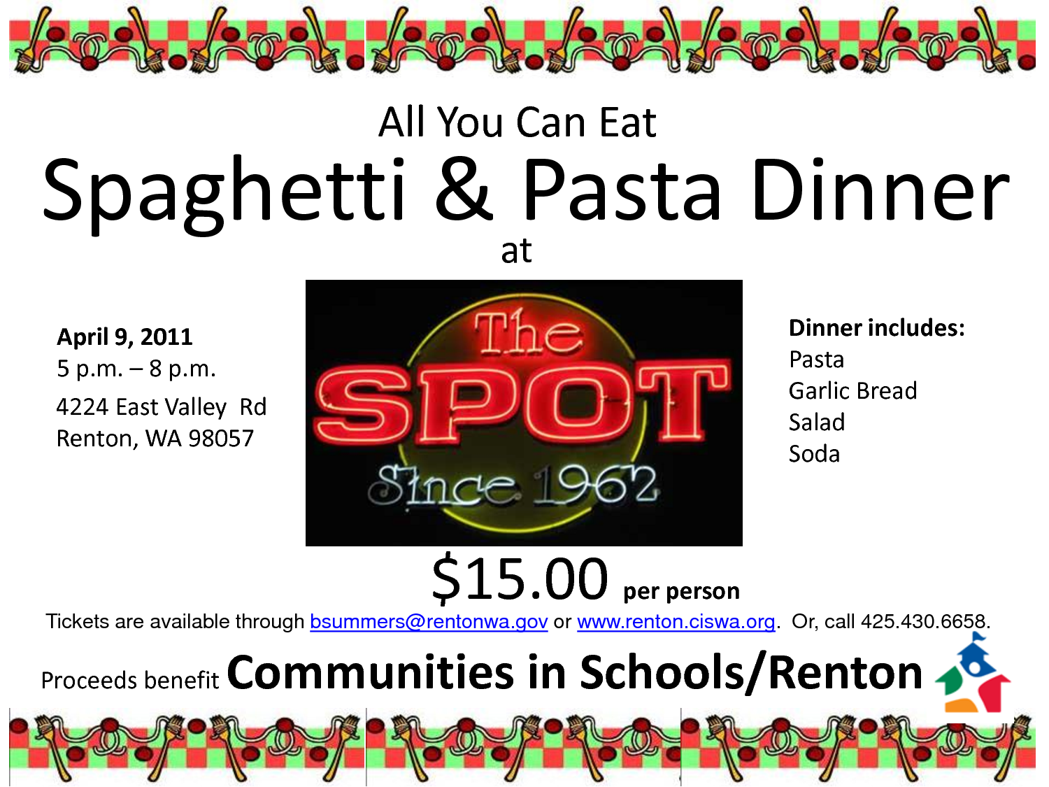 Back   Gallery For   Spaghetti Fundraiser Clipart