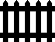 Black And White Fence Clip Art