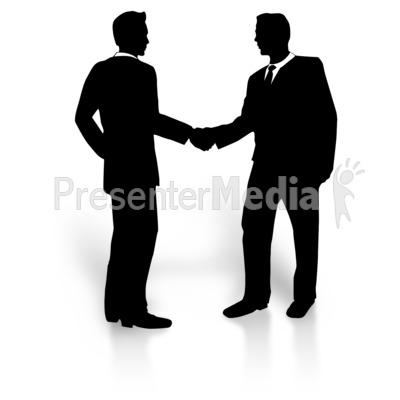 Businessmen Shaking Hands Clip Art