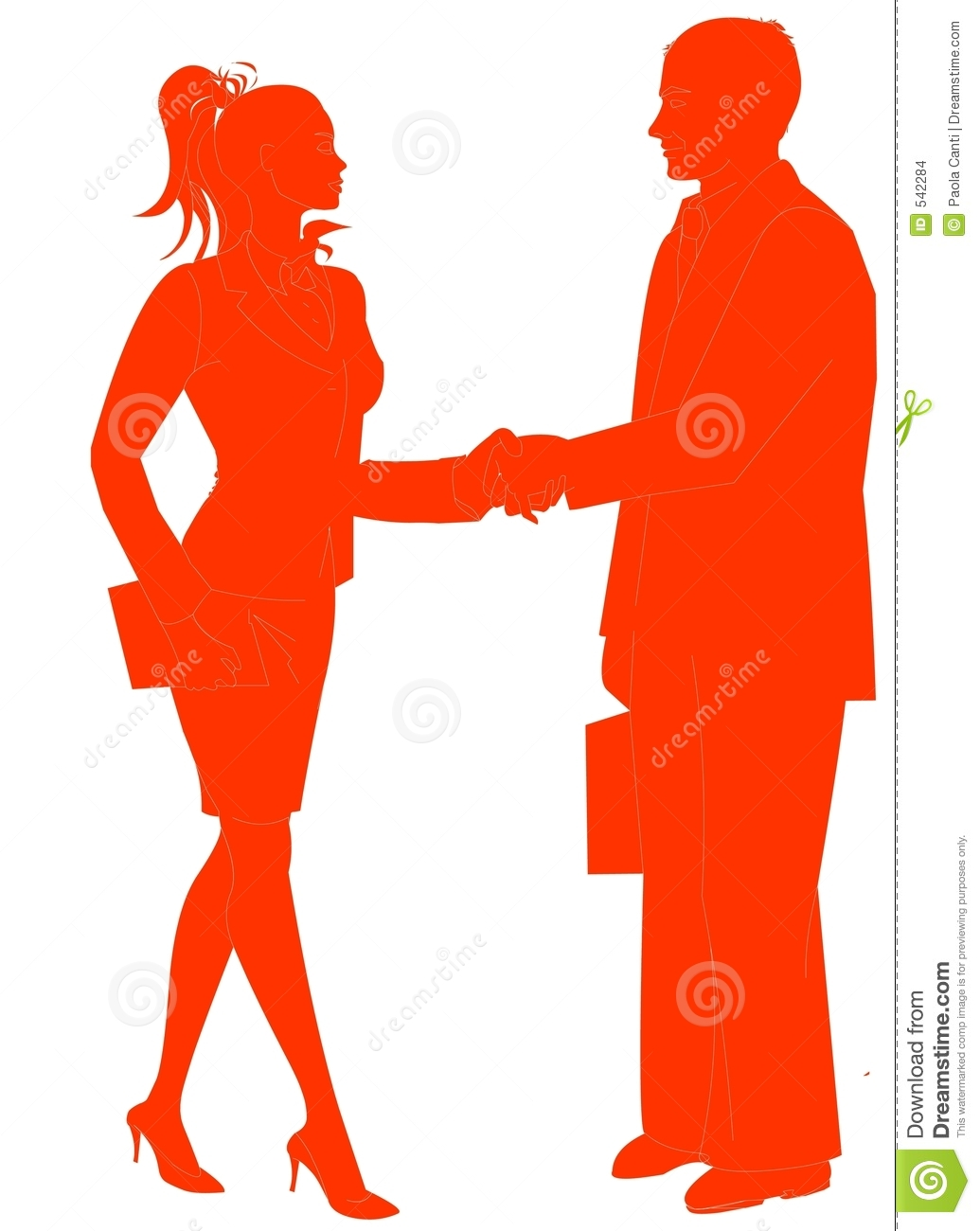 Business People Silhouette Shaking Hands Business People Shaking Hands