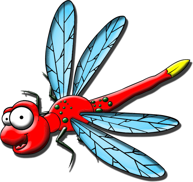 Cartoon Dragonfly