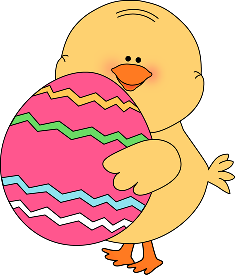 Chick Carrying Easter Egg Clip Art   Chick Carrying Easter Egg Image