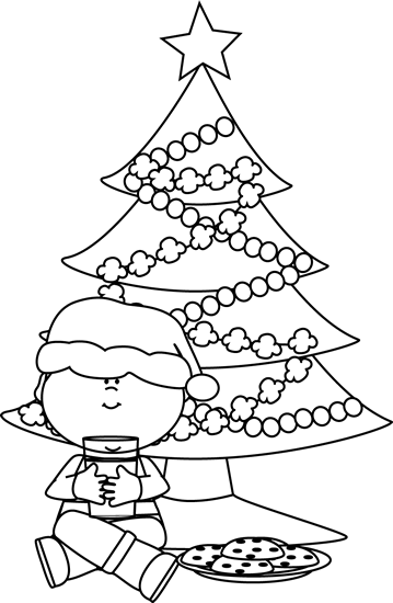 Christmas Cookie Clip Art Black And White