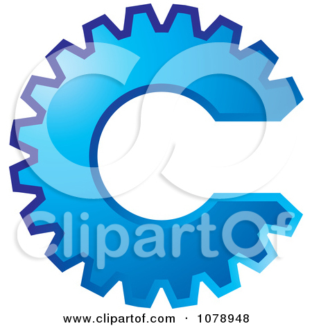 Blue Gear Clipart - Clipart Kid