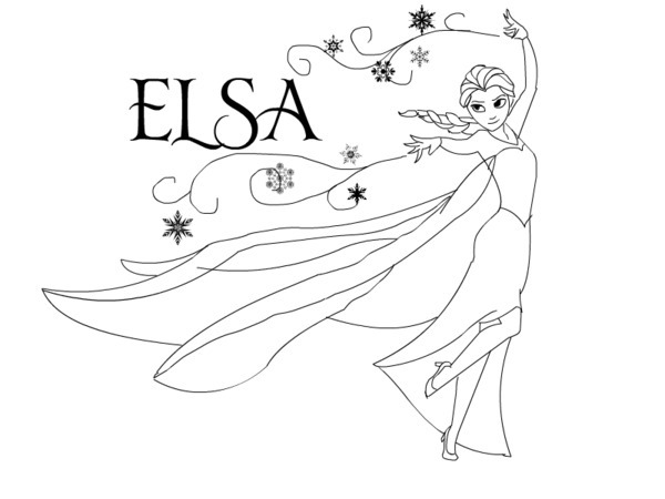 Elsa coloring clipart clipart suggest for Coloring pages elsa