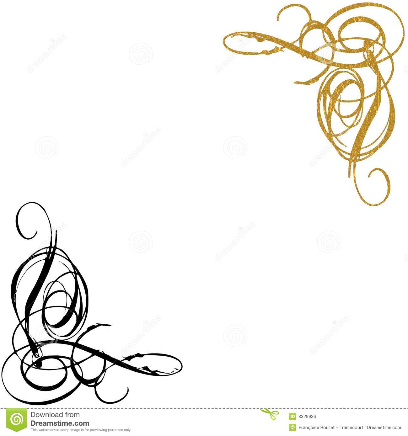 Gold Swirl Clipart - Clipart Suggest