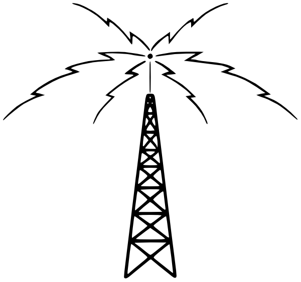 Radio Tower Active   Http   Www Wpclipart Com Buildings Assorted