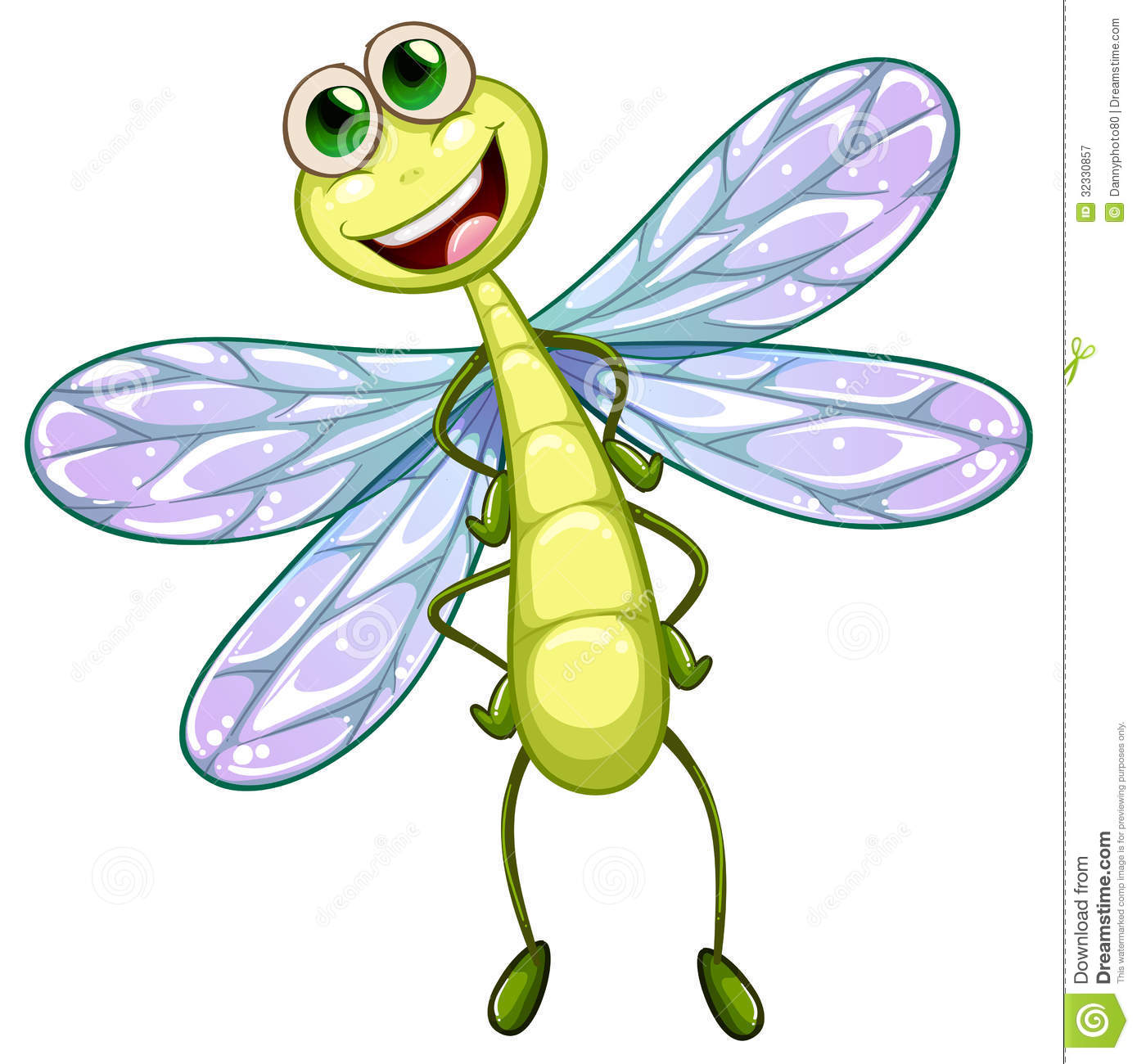 Smiling Dragonfly Royalty Free Stock Photography   Image  32330857