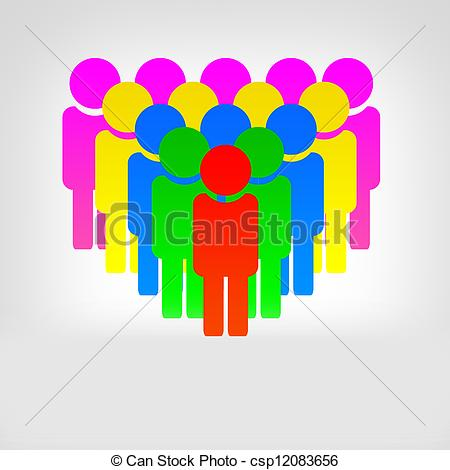 Stock Illustrations Of Community People Group Of People   Abstract