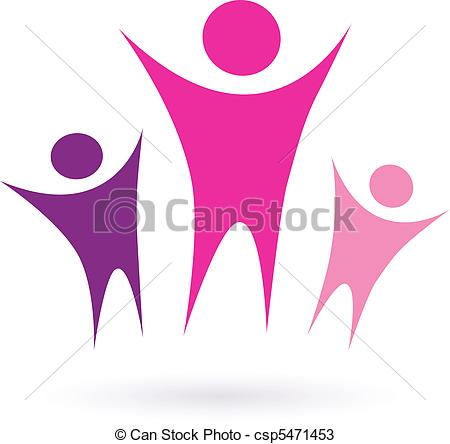 Vectors Of Women Group Community Icon   Women Community Sign Isolated