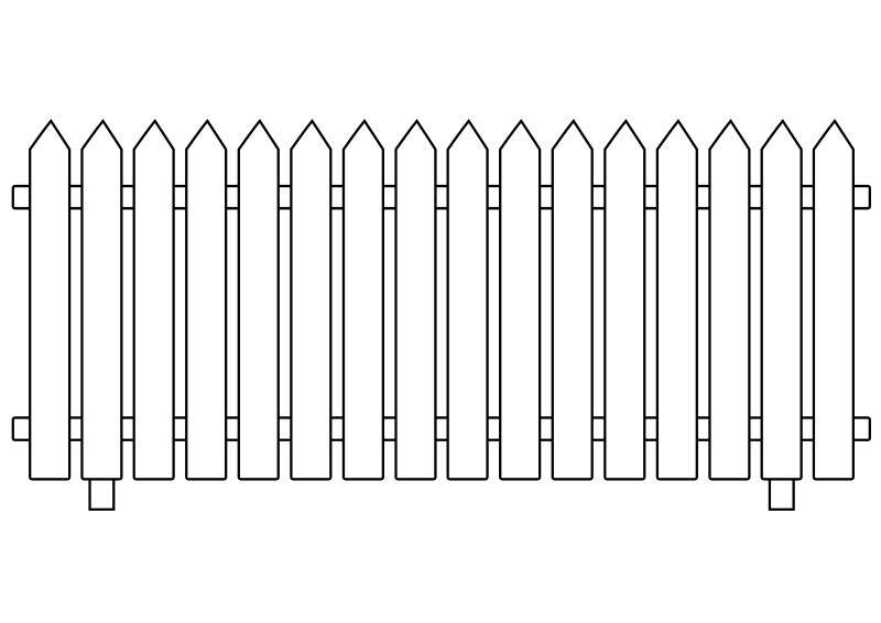 White Picket Fence By Ghosthand   Drawn Fence