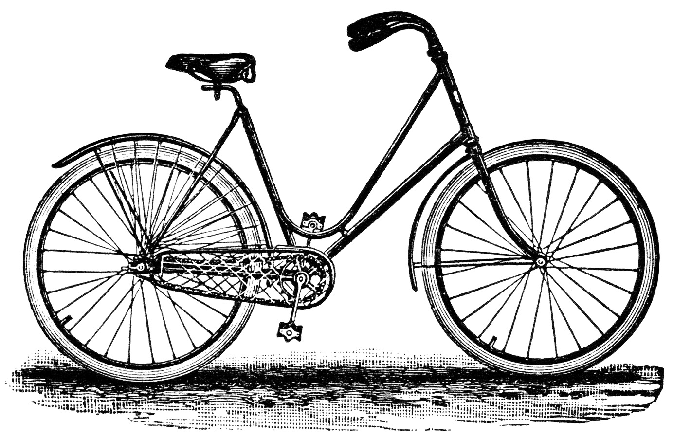 And A Black And White Clipart Version Of The Bicycle From The Ad