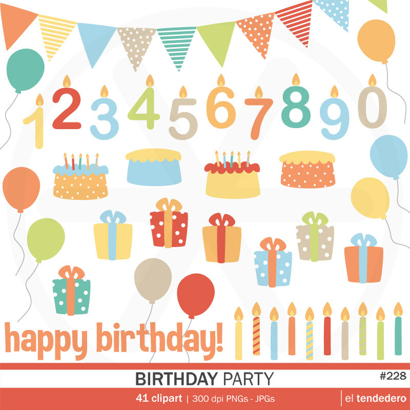 April Birthday Clipart Birthday Clipart Pack Quot