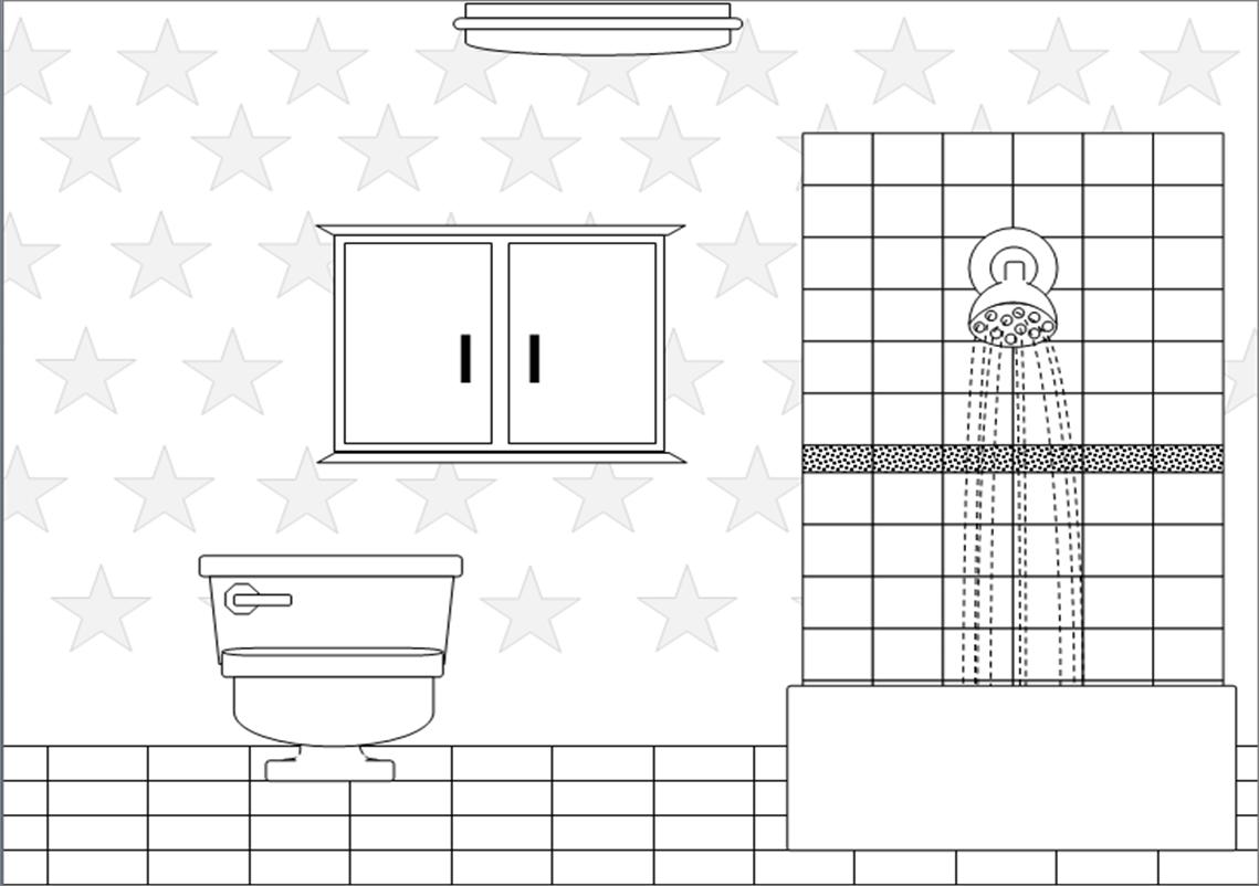 Clip Art Black And White Bathroom Clipart Clipart Kid