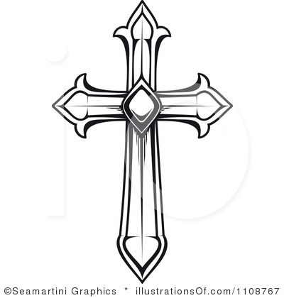 White Cross Outline Clipart - Clipart Kid
