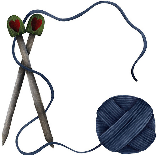 Knitting Needles Clip Art : Clip art crossed knitting needles clipart suggest