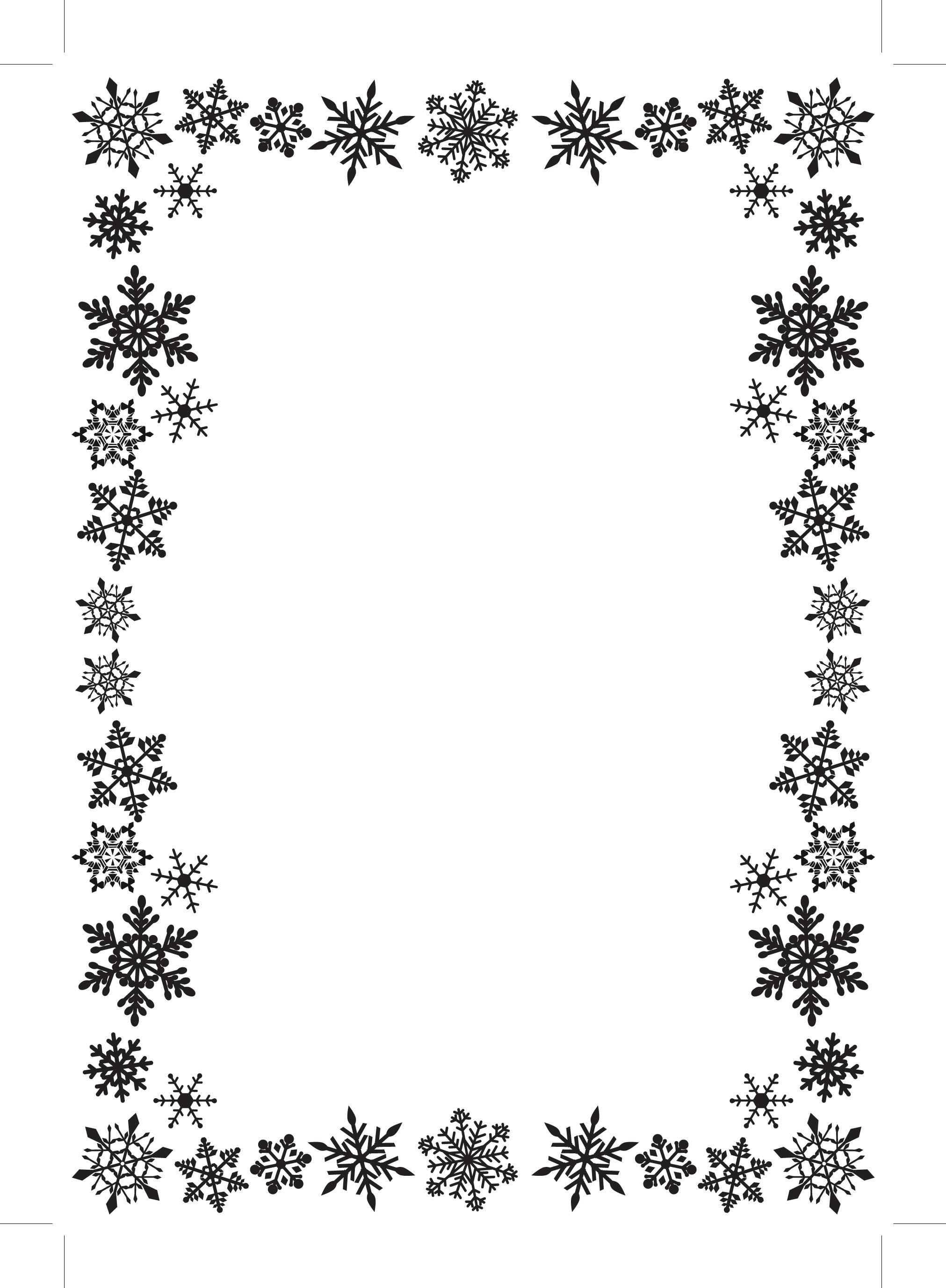 christmas snowflakes border - photo #16