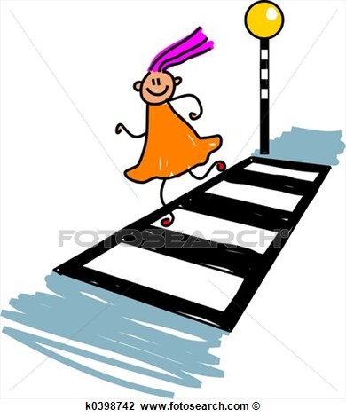 crossing the street safety clipart clipart suggest