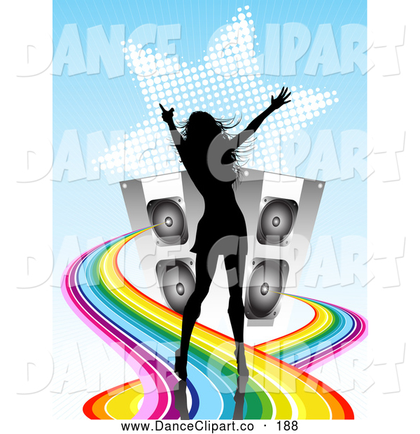 Partying Clipart Image Two Dancing Women Holding Alcoholic Drinks At